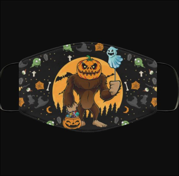 Halloween Bigfoot pumpkin trick or treat head face mask