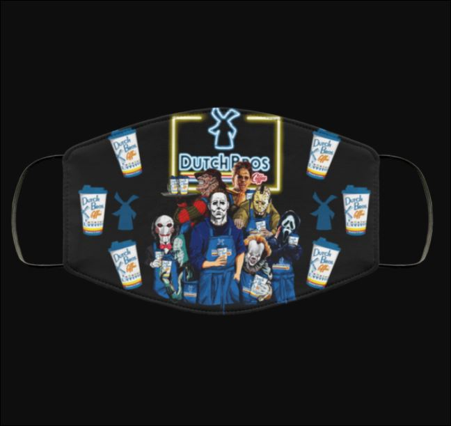 Halloween Dutch Bros coffee horror characters face mask