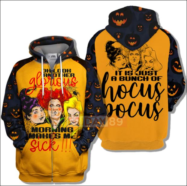 Halloween Hocus Pocus oh look another glorious 3D all over printed zip hoodie