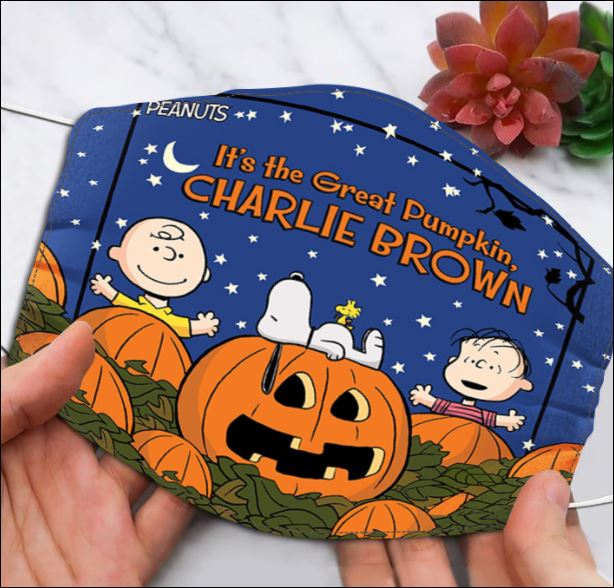 Halloween it's the great pumpkin Charlie Brown face mask