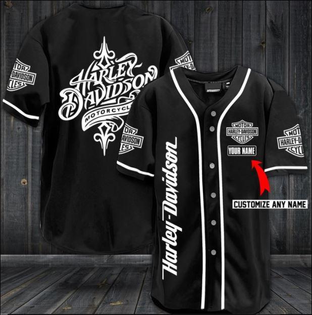Harley Davidson motorcycle baseball shirt