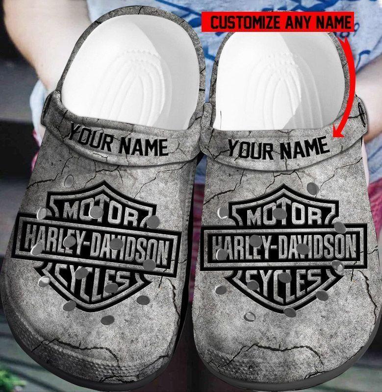 Harley davidson personalized custom name crocs crocband clog-2