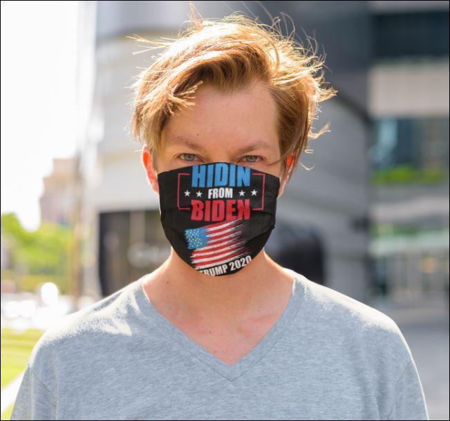 Hidin from Biden trump 2020 face mask