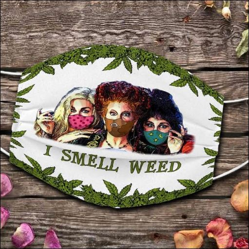 Hocus Pocus i smell weed face mask