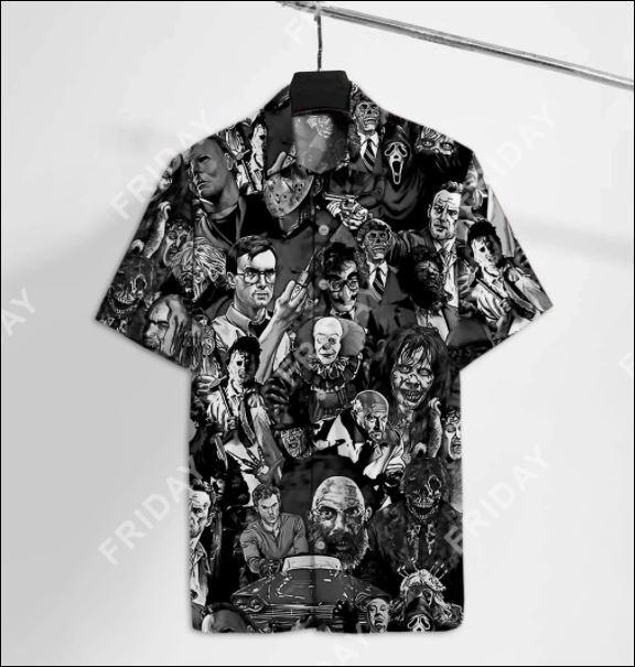 Horror movie characters hawaiian shirt