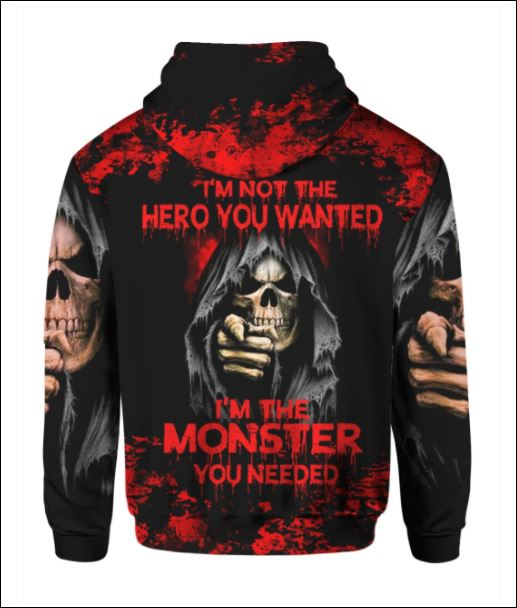 I'm not the hero you wanted i'm the monster you needed America 3D all over printed hoodie - dnstyles