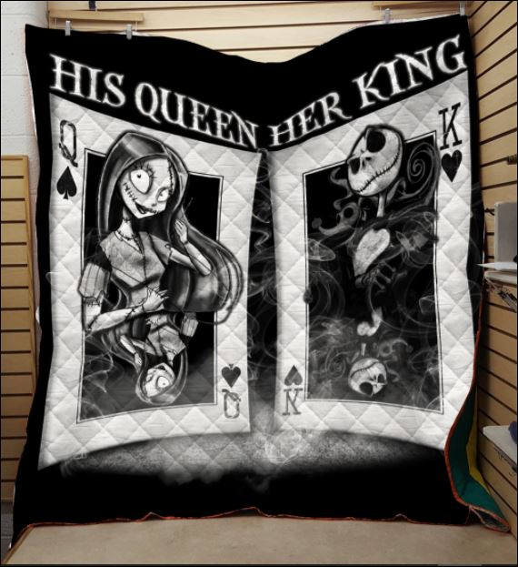 Jack Skellington and Sally his queen and her king 3D quilt