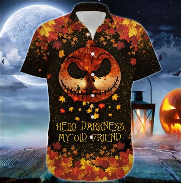 Jack Skellington hello darkness my old friend hawaiian shirt