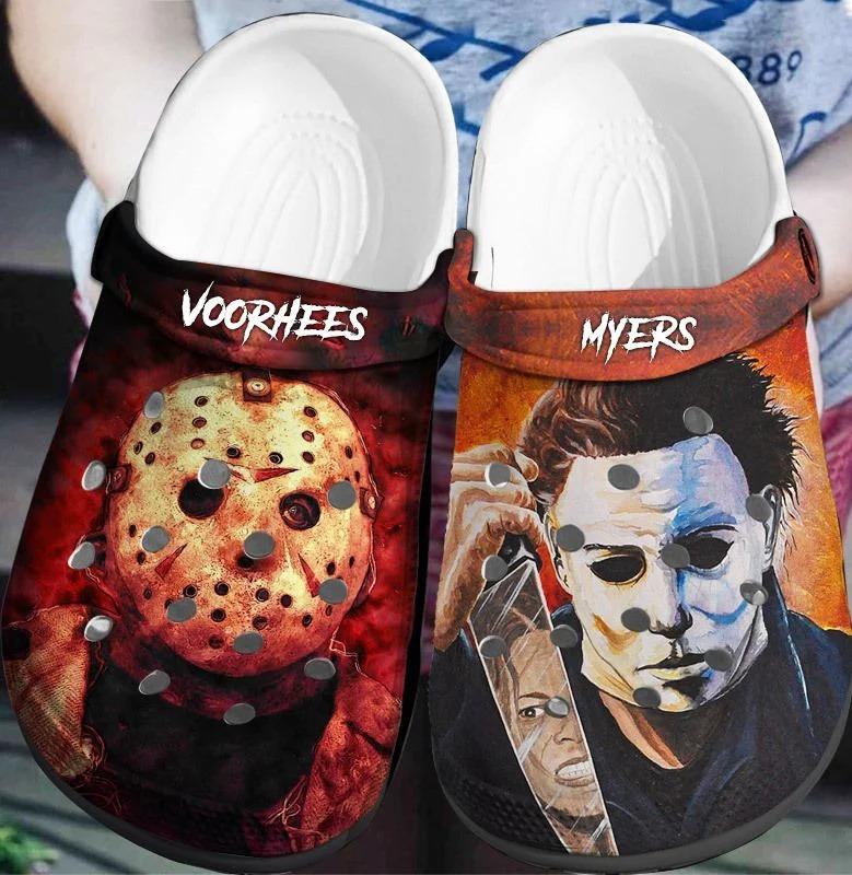 Jason Voorhees - Michael Myers Crocs Crocband Clog