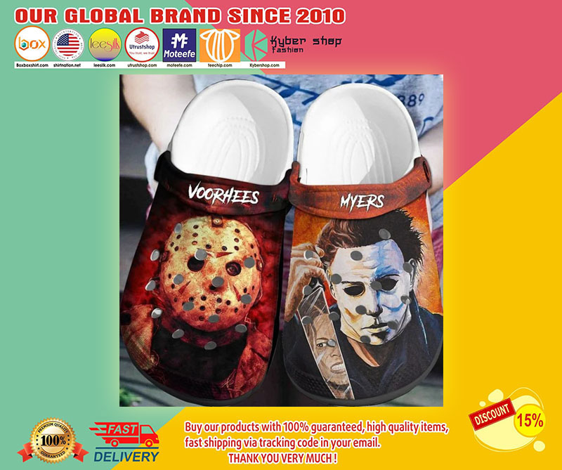 Jason Voorhees and Michael Myers crocband crocs shoes1