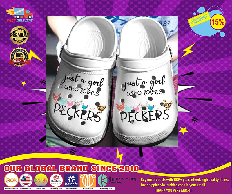 Just a girl who loves peckers crocband crocs shoes - LIMITED EDITION