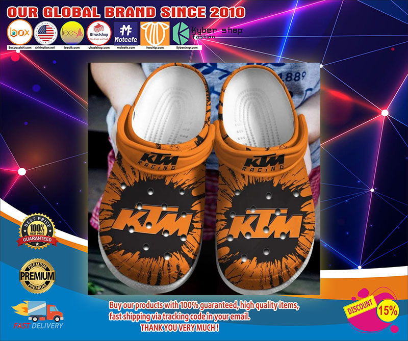 Ktm racing crocs shoes1