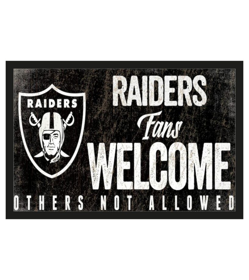 Las Vegas Raiders fans welcome others not allowed doormat 1