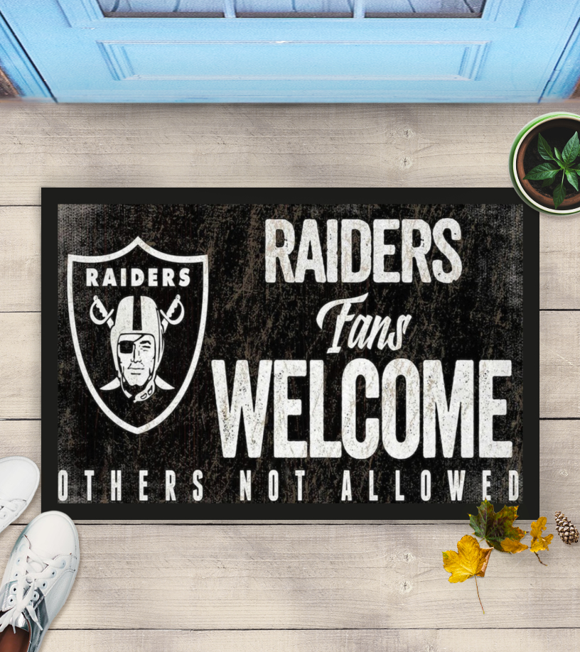 Las Vegas Raiders fans welcome others not allowed doormat
