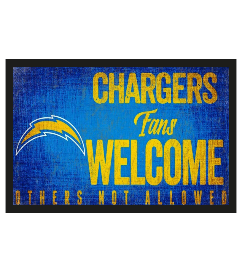 Los Angeles Chargers fans welcome others not allowed doormat 1