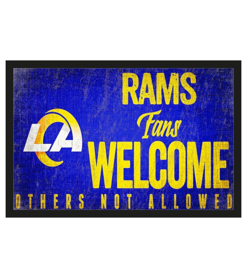 Los Angeles Rams fans welcome others not allowed doormat 1
