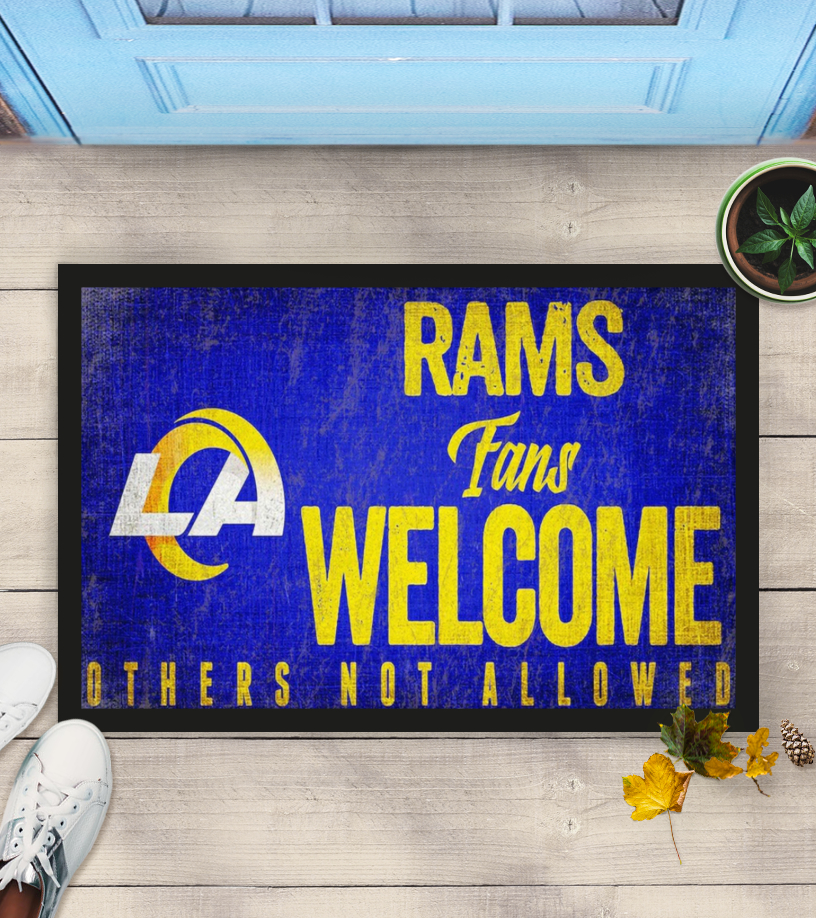 Los Angeles Rams fans welcome others not allowed doormat