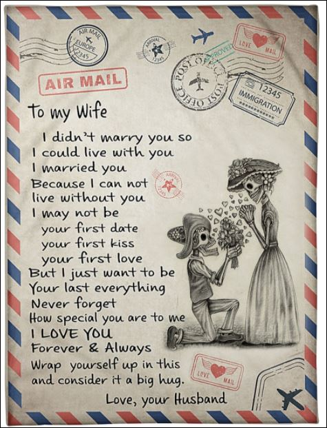 Mexican air mail to my wife quilt