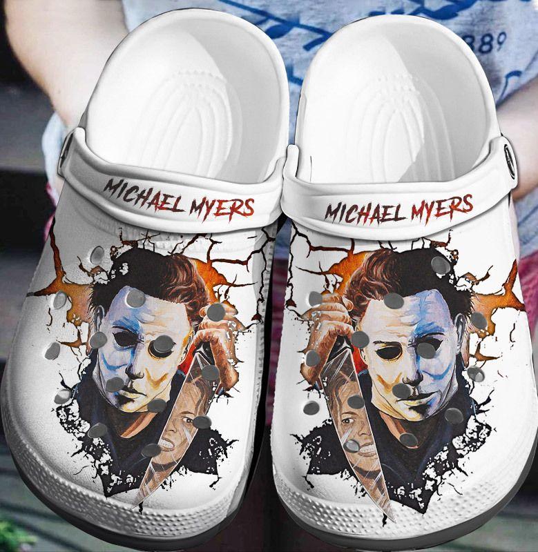 Michael Myers Face Crocs Crocband Clog