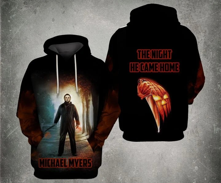 Michael myers the night he came home 3d all over print hoodie - Hothot 080920