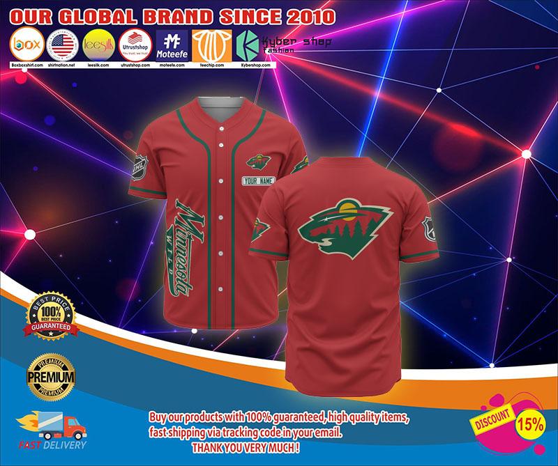 Minnesota wild baseball jersey shirt 1