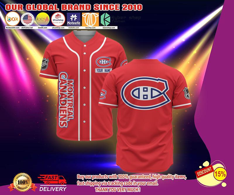 Montreal Canadiens baseball jersey shirt - LIMITED EDITION