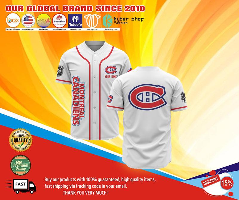Montreal canadiens baseball jersey shirt 1