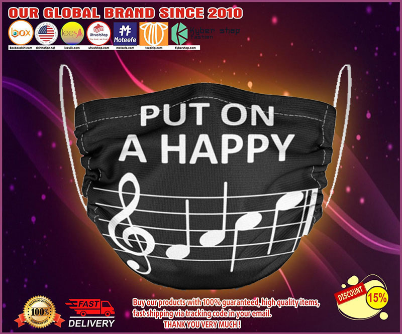 Music put on a happy face mask - LIMITED EDITION