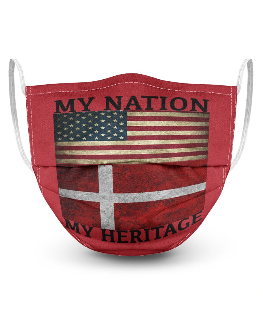My nation my heritage face mask