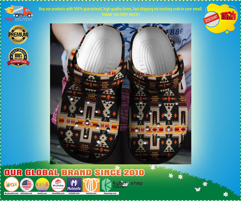 Native American crocband crocs shoes - LIMITED EDITION