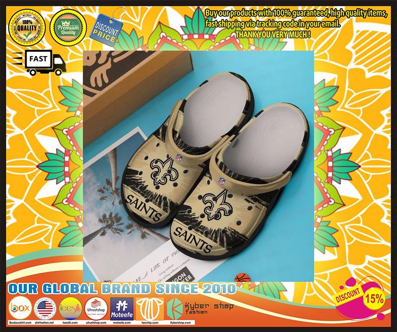 New Orleans Saints crocband crocs shoes - LIMITED EDITION