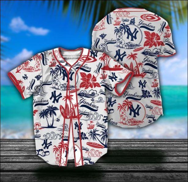 New York Yankess tropical baseball shirt
