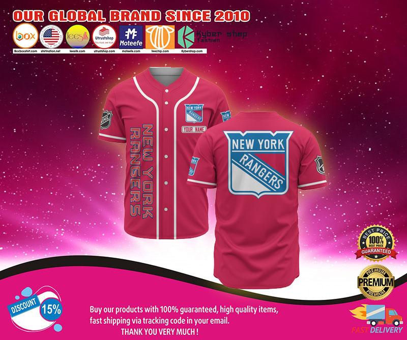 New york rangers baseball jersey shirt 1