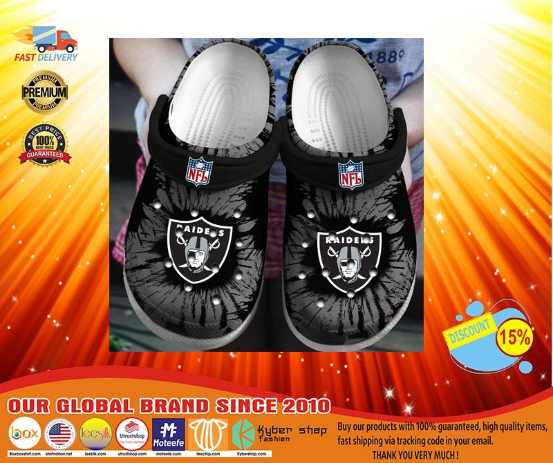 Oakland Raiders crocband crocs shoes - LIMITED EDITION