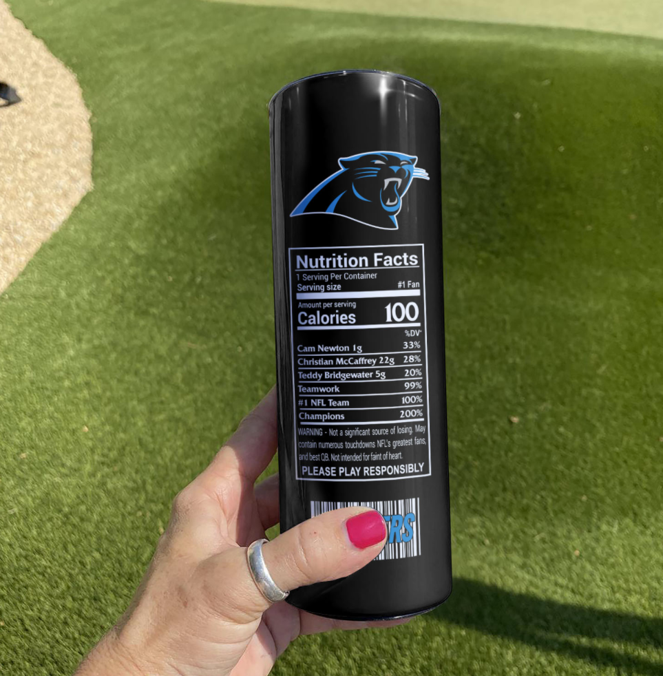 Panthers Energy skinny tumbler - dnstyles