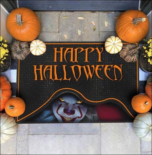 Pennywise happy Halloween doormat