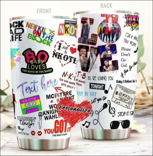 Personalized Love New Kids On The Block tumbler