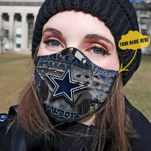 Personalized dallas cowboys nfl filter face mask 1