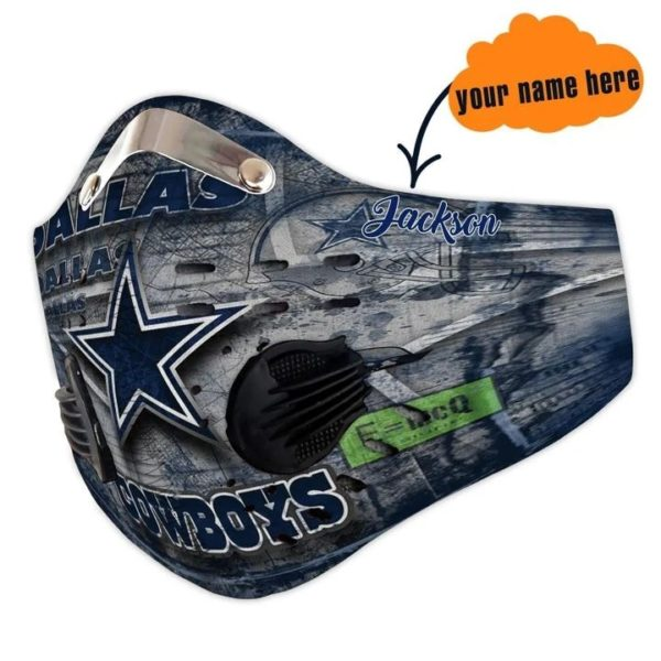 Personalized dallas cowboys nfl filter face mask