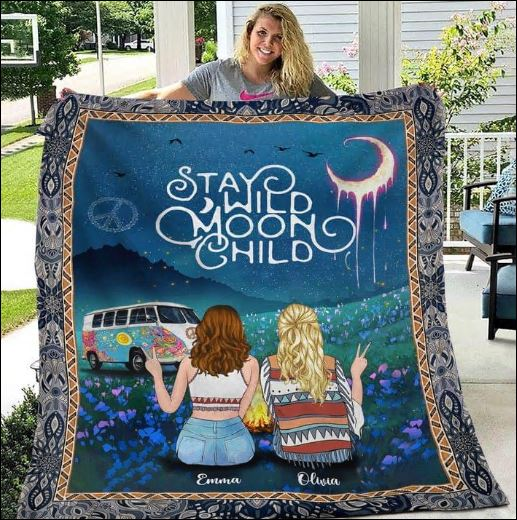 Personalized stay wild moon child quilt
