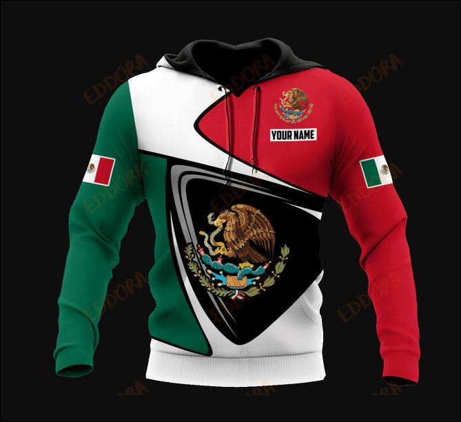 Personlized Mexican logo 3D all over printed hoodie