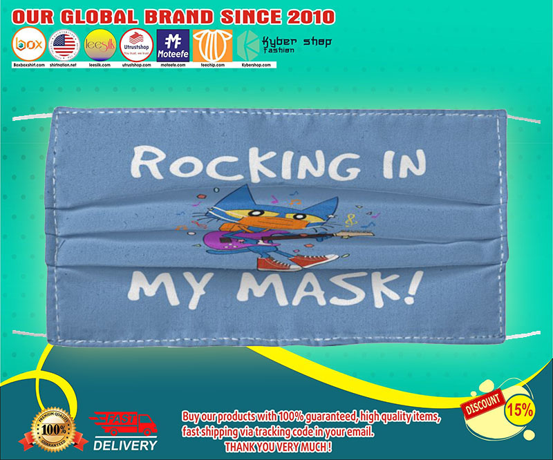 Pete the Cat rocking in my mask face mask - LIMITED EDITION