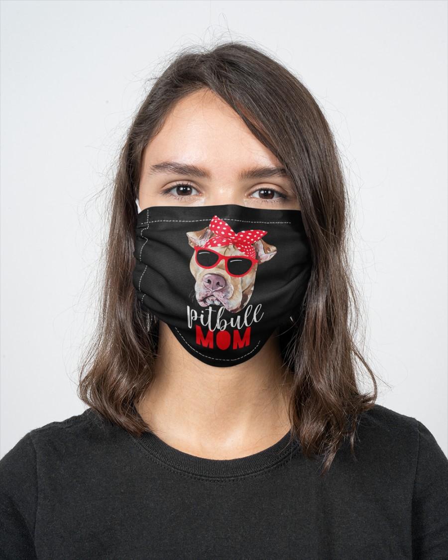 Pitbull mom face mask 1