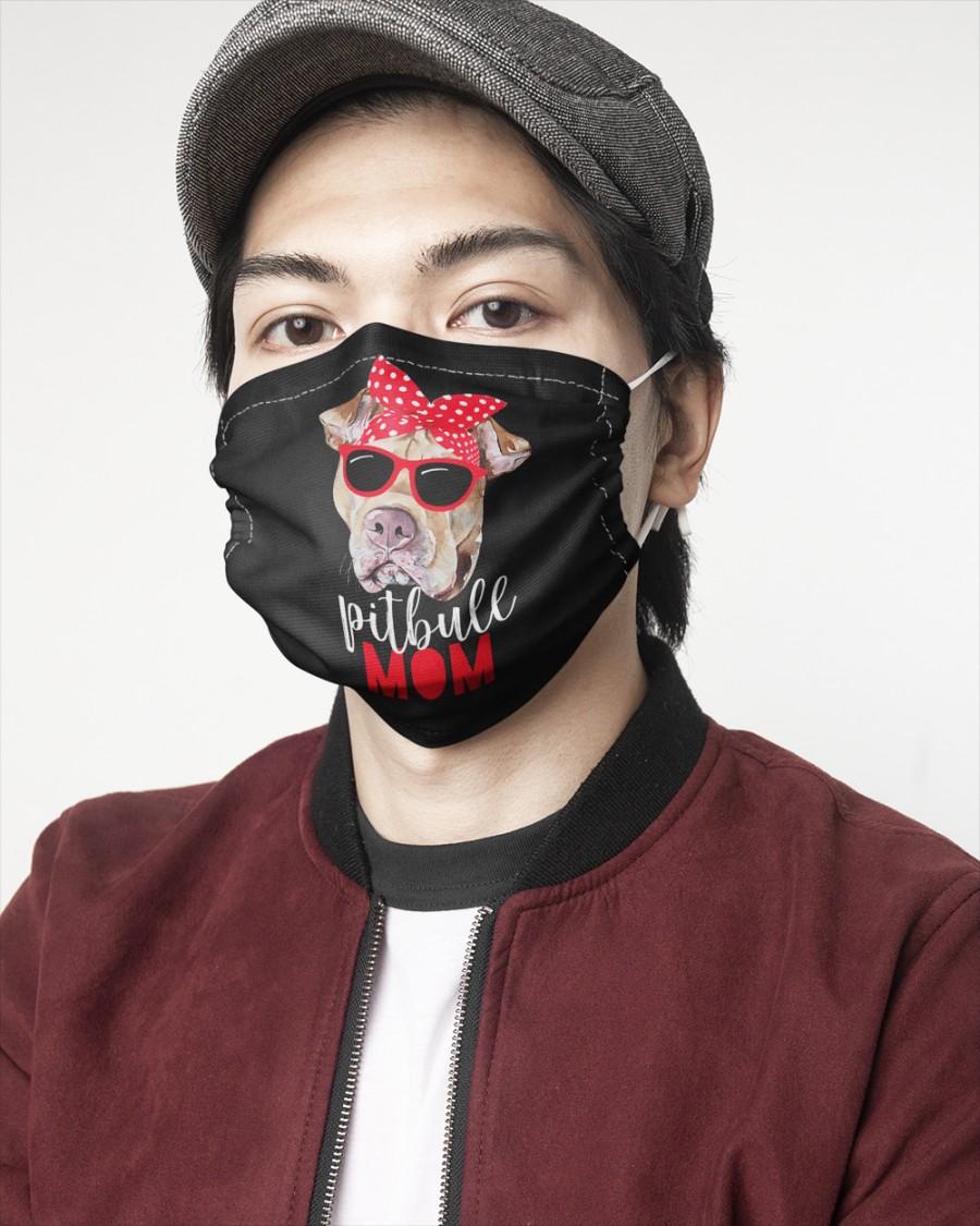 Pitbull mom face mask 2
