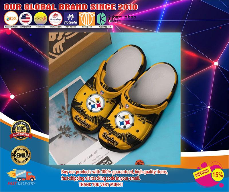 Pittsburgh Steelers crocband crocs shoes1