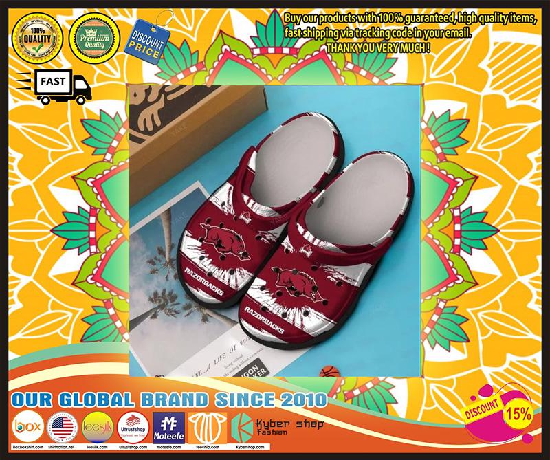 Razorbacks croc shoes - LIMITED EDITION