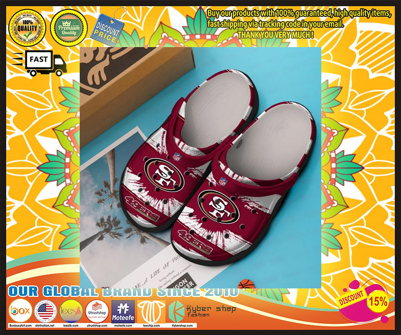 San Francisco 49ers crocband crocs shoes - LIMITED EDITION