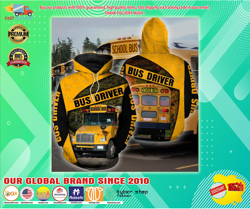 School bus driver hoodie 3D - LIMITED EDITION BBS