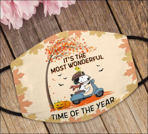 Snoopy it's the most wonderful time of the year face mask