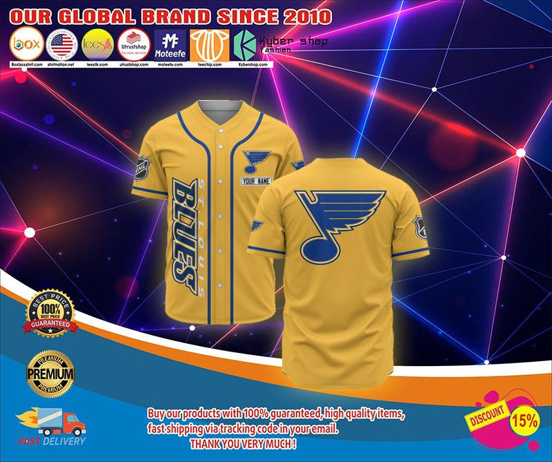St.louis blues baseball jersey shirt 1